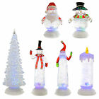 Swirling Glitter Water Christmas Ornament Xmas Decoration Colour Changing Light