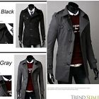 Mens Slim Fit Double Breasted Trench Casual Coat Long Jacket Overcoat Outwear