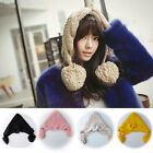 Chic Women Girls Winter Warm Ear Snow Ski Cap Crochet Knit Baggy Beanie Hat