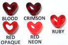 1,060pc 10x12mm Red Heart Pony Beads Vertical Hole
