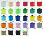 1mm Nylon Coated Round Elastic Cord Stretch Beading Mala String - Choose Color!