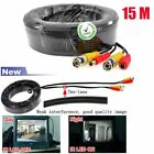 2/4/8/10x 15M 32.8FT BNC Video DC Power Cable Wire For CCTV Security Camera DVR