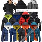 Hot Sales Men's Winter Slim Casual Jacket Hooded Wadded Coat Thicken Outerwear