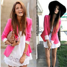 6 Colors Basic style-women A buckle Slim Casual Candy colors Suit Jacket Blazer