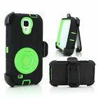 Hard Outer Box  Case Cover wth Belt Clip Holster for Samsung Galaxy S4