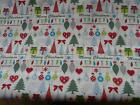 100% COTTON BRIGHT CHRISTMAS FABRIC PRINT PICK YOUR OWN SIZE SEWING