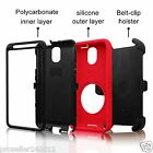 Hard Outer Armour Box Case Cover w/ Belt Clip Holster for Samsung Galaxy Note 4