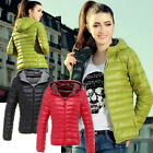 AB Fashion Lady Winter warm Simple comfortable Thin Down Coat Jacket Overcoat US