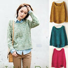 Women Oversized Knitted Sweater Batwing Sleeve Tops Cardigan Loose Outwear Coat