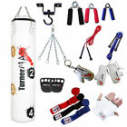 TurnerMAX Punch Bag Set Boxing Punching Bag Gloves hook Skip Rope White Target
