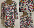 NEW EX WHITE STUFF MEI TOP TUNIC BLOUSE SHIRT MULTI RED BLUE SPOT PRINT 8 - 18