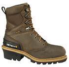 Mens Carhartt Composite Toe Waterproof Insulated Logger Brown CML8369 (D, M)