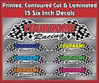 Custom Your Name Racing Decals Trailer Truck MX ATV Race Car Kart Boat Ski IMCA
