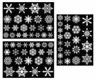 69 Elegant Reusable Christmas Static Cling Snowflake Window Decorations