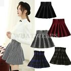 Fashion Womens Hot Classic Houndstooth Dot Plaid Diamond Short Pleated Skirt SOZ