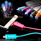 LED Bright Micro USB Charger Light Data Sync Flat Cable for Samsung S3 S4 HTC LG