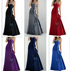 Halter Long Cocktail Evening Dresses Bridesmaid Dresses Party Ball Gown Custome
