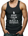 Keep Calm And Build A Snowman - Christmas Santa Clause Men's Tank Top T-shirt