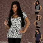 779 LADIES CASUAL SHORT SLEEVED HIPS SHIRT CREW NECK TOP SIZE S/M & L/XL