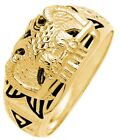 New 10k or 14k White or Yellow Gold Masonic Scottish Rite Freemason Ring