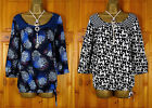 NEW LADIES DEBENHAMS RED HERRING BLUE FLORAL BLACK WHITE BUTTERFLY BLOUSE TOP