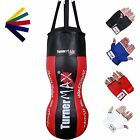 TurnerMAX Double Angle Body Punch Bag Filled MMA UFC Free Inner Gloves + Band