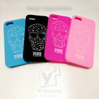 iPhone 55s 66s Plus Skull Star PINK VS Victoria's Secret Silicone Sexy Soft Case
