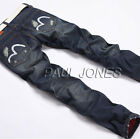 Fashion Design Men's Slim Fit  Straight Jeans Trousers Skinny Casual Jean Pants