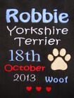 Personalised Dog / Puppy Blanket - Soft Fleece - Name, ANY BREED, Date of Birth