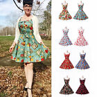 FAST 50s 60s Vintage Dancing Swing Jive Evening Rockabilly Dress Skirt S M L XL