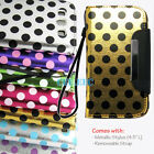 METALLIC Leather Polka Dot Wallet Wristlet Case for Samsung GALAXY S3 / III i9300