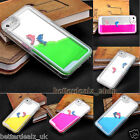 Dolphin Dynamic Liquid Quicksand Hard PC Clear Case Cover Skin For iPhone 5 5S