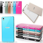 Luxury Aluminum Metal Bumper Frame Acrylic Back Case Cover For Sony Xperia Z3