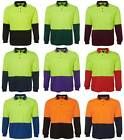 Mens Hi Vis Traditional Long Sleeve Polo Shirt 6HVPL | Tradie, Trade Wear, Work