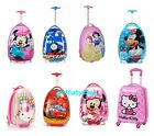 ★Children Kids Holiday Travel Character Suitcase Luggage Trolley Bags NEW