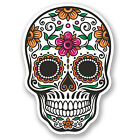 2 x Sugar Skull Vinyl Sticker Decal iPad Laptop Car Bike Helmet Girls #4675/SV