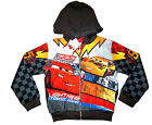 Boys LIGHTNING McQUEEN vibrant hooded sweatshirt jacket Size S-XL Age 5-10 yrs