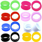 PAIR-LARGE FLARE SOFT Silicone Ear Skins-Ear Gauges-Soft Ear plugs-Ear Tunnels