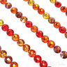 144 Swarovski 2058/2088 crystal flatbacks rhinestones ORANGE & COPPER Mix