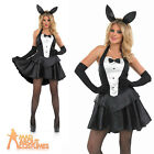 Sexy Bunny Hostess Girl Costume Ladies Tuxedo Fancy Dress Easter Outfit