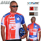 SPEG Chile Mens Cycling Jersey Full Zipper Short Sleeve Multi-Color 100% Vapore