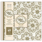ALBUM DE SCRAPBOOKING RECHARGEABLE FEUILLES  PHOTOS MARIAGE GILDED WINTER 30,5cm