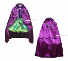 Princess Anna Style Black Top Coronation Pettiskirt & Costume Cape Set 1-8Year