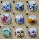 100 X Flower Porcelain Loose Ball Bracelet Necklace Round Bead Chinese DIY 10MM