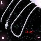 XMAS 10pcs Wholesale Silver 1mm Snake Chain Necklace 16-24 inch HUCA