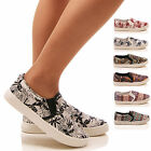 LADIES WOMENS TRAINERS SKATER PUMPS SLIP ON CASUAL SPORTY SNEAKERS SHOES SIZE