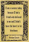 A4 Parchment Poster Quote Abraham Lincoln - SUCCESS - Greeting Card Option