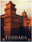 4984.Ferrara.Red castle sitting on the water.POSTER.Decoration.Graphic Art