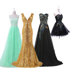 PLUS + Black Sequins Long Masquerade Formal Evening Party Ball Gown Prom Dresses