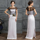 Vintage 60S LONG Bridesmaid Formal Gown Ball Party Homecoming Evening Prom Dress